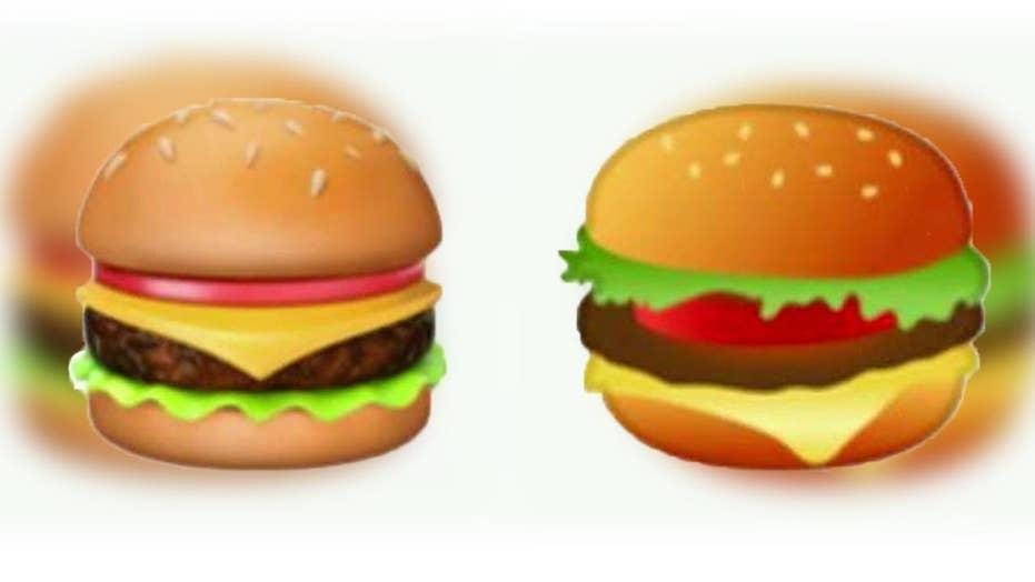 Burger emoji sparks heated debate on Twitter