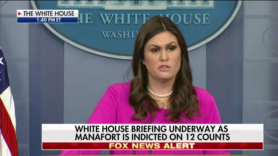Sanders reacts to Mueller indictments in Russia probe.