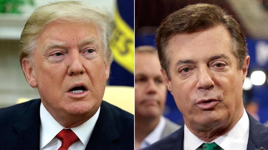 It's Paul Manafort's indictment, not Trump's