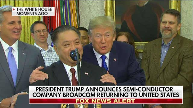 Trump Announces Broadcom Will Move Headquarters Back to US