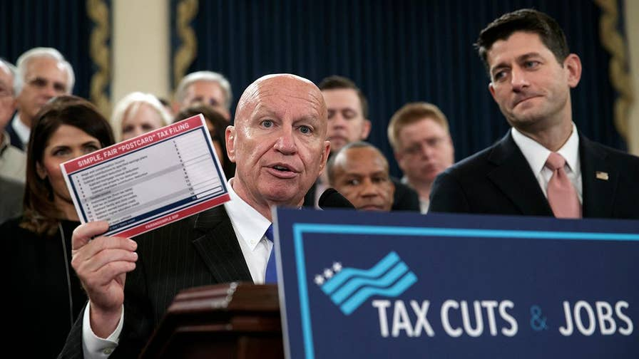 House Republicans unveil text of tax overhaul.