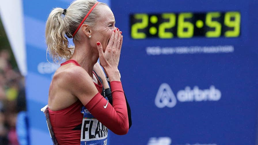 Shalane Flanagan made history as she crossed the finish line.