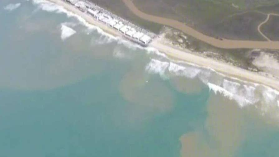 Mexico sewage spill floating north into U.S. beach towns, sickening residents; William La Jeunesse reports from Los Angeles.