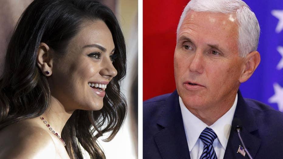 Mila Kunis's Mike Pence protest raises eyebrows