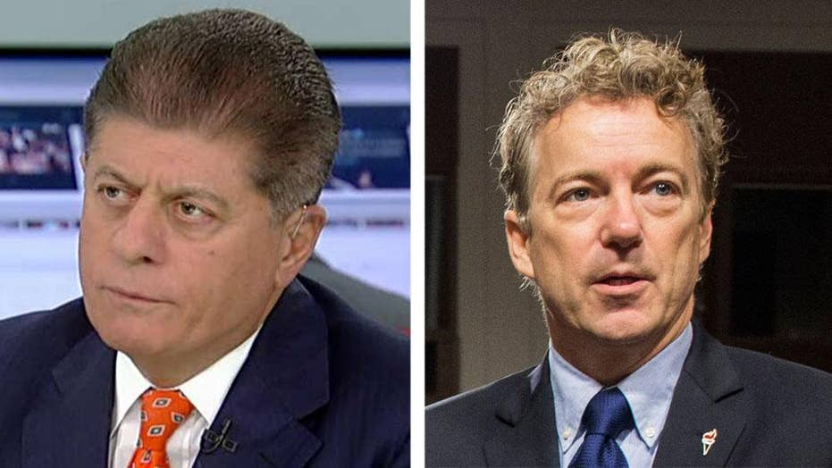 Judge Napolitano: Rand Paul angry, in pain following assault