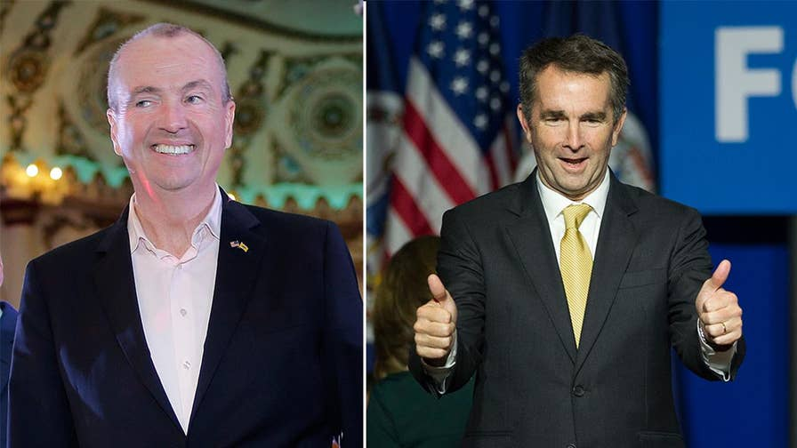 Democrats rode to victory in two hotly contested gubernatorial elections, as Ralph Northam defeated Republican Ed Gillespie in Virginia and Phil Murphy beat Republican Kim Guadagno in New Jersey; insight from Jake Sherman, senior writer for Politico.