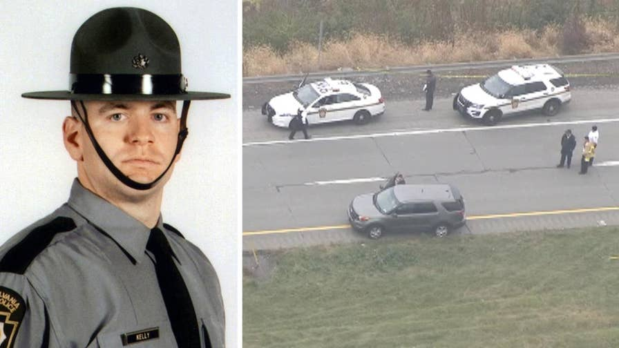 Cpl. Seth J. Kelly was shot several times during a traffic stop on Route 33 in Northampton County.