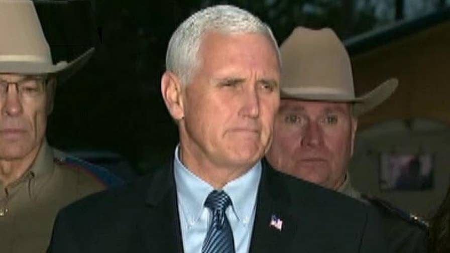 The vice president speaks in Sutherland Springs, Texas after church shooting.