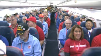 Fox News correspondent and Navy veteran Lea Gabrielle joins the 43rd Stars and Stripes Honor Flight.