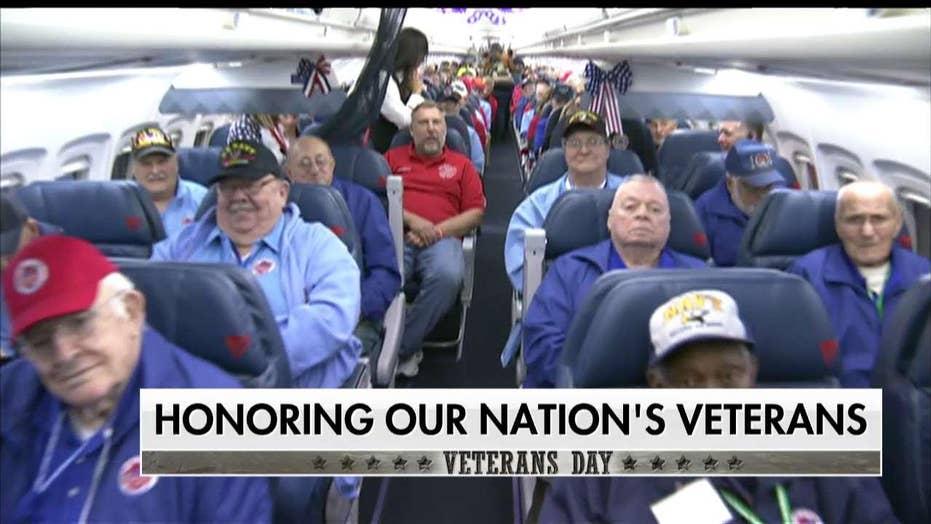 Honor Flight Takes Veterans to Washington, D.C. to Visit Their War Memorials