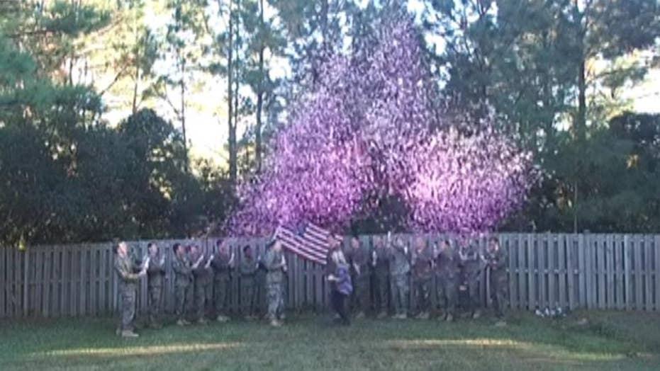 Special Veterans Day gender reveal honors fallen hero