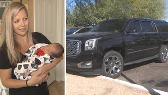 Arizona mother Shannon Geise was en route to the hospital to deliver her fifth child when contractions forced her to pull over to the side of the road.