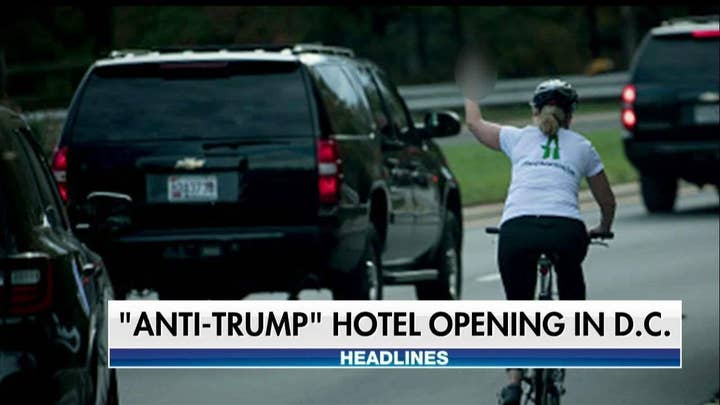 Thousands of Dollars Raised for Cyclist Fired for Flipping Off Trump's Motorcade