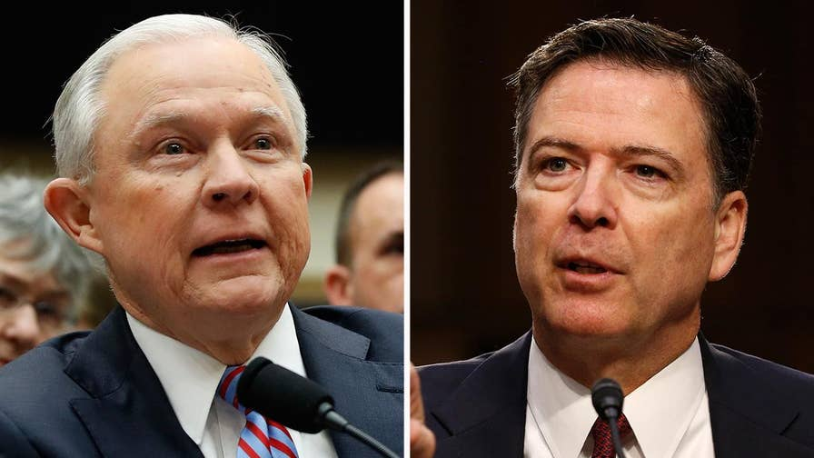 Attorney general says former FBI Director James Comey had no power, right or justifcation to announce the conclusion of investigation in March 20 testimony.