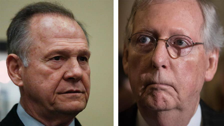 Senate majority leader says he has looked at 'all the options' to prevent Judge Roy Moore from being seated in the U.S. Senate; Mike Emanuel reports from Capitol Hill.