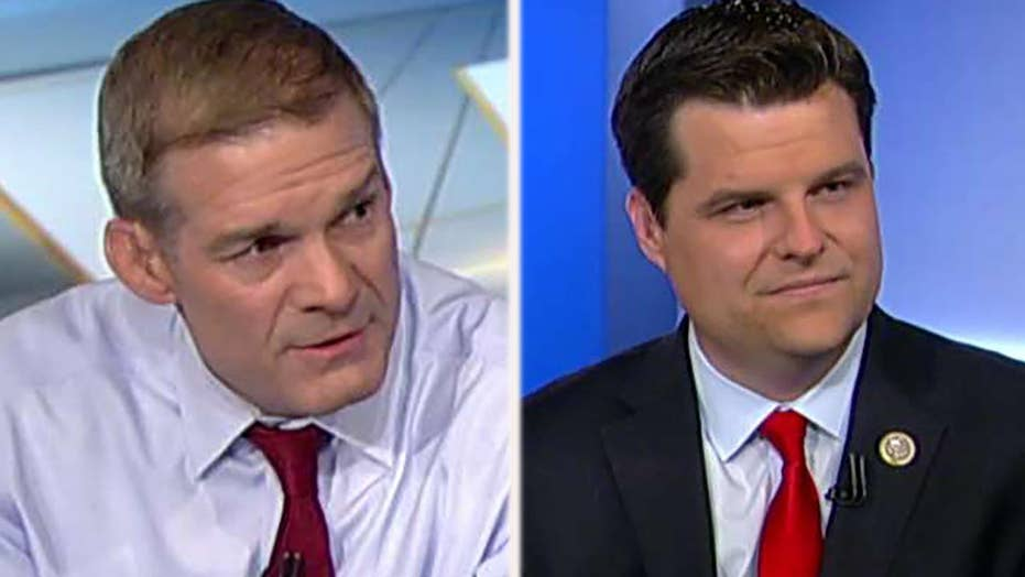 Reps. Jordan, Gaetz call for a special counsel on Clinton