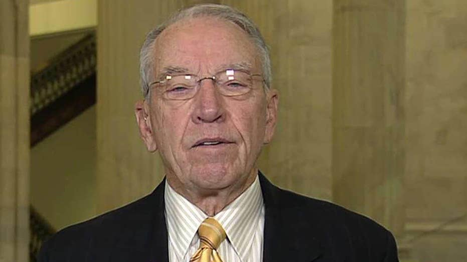 Sen. Grassley on probing political interference in DOJ, FBI