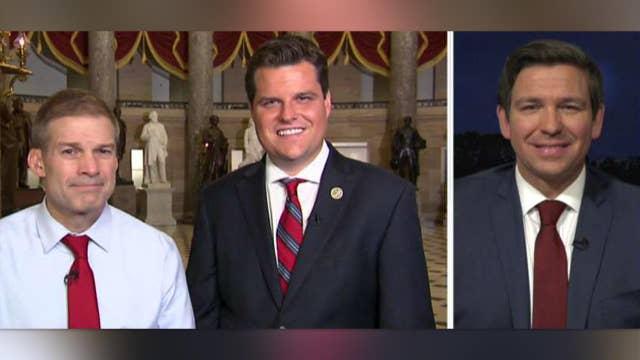 Congressmen call for a special counsel to probe Clinton