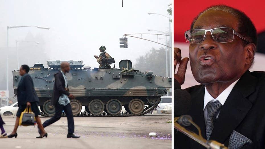 Longtime Zimbabwe President Mugabe under house arrest