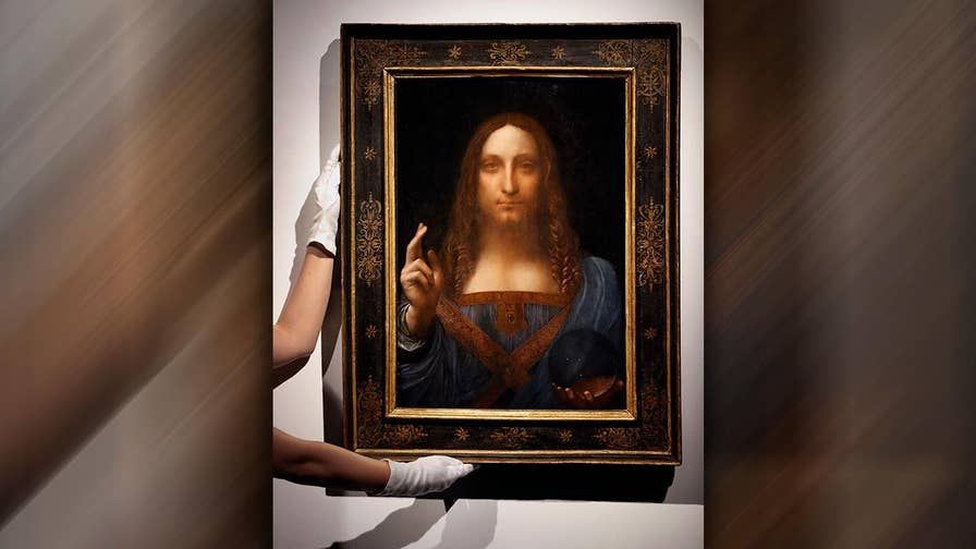 Italian Renaissance master's 'Salvator Mundi' smashes record for highest price ever for work of art sold at auction.