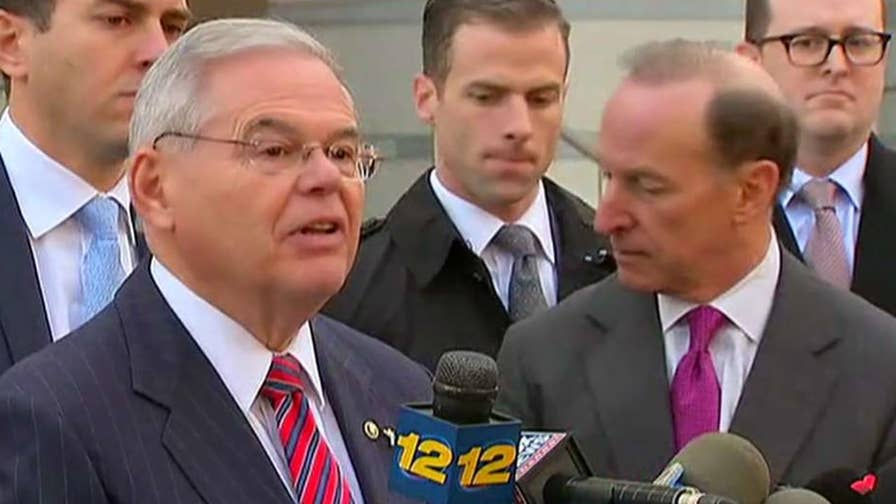 Democratic senator from New Jersey thanks his family, supporters, his legal team and the jury following mistrial in corruption trial.
