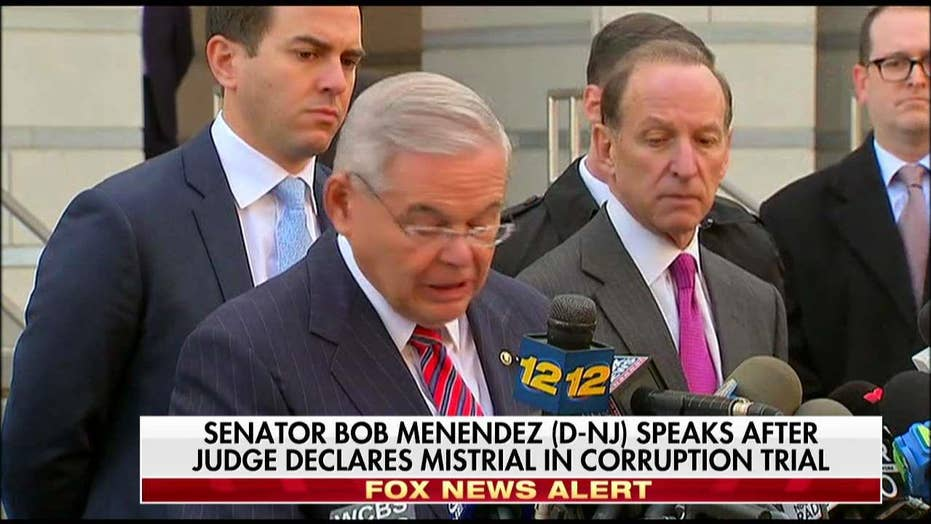 Tearful Menendez Speaks After Judge Declares Mistrial in Corruption Trial