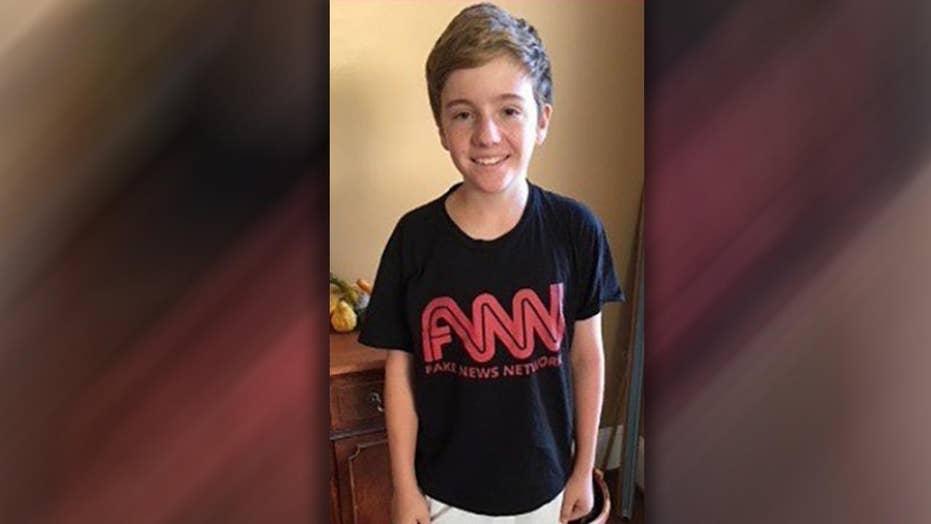 School nixes student's 'fake news' shirt on CNN field trip