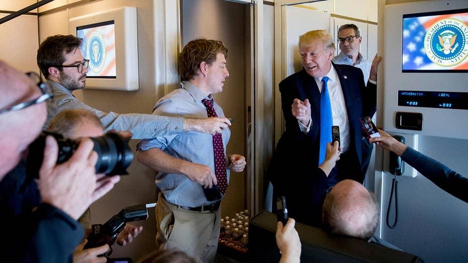 Mainstream media coverage of Trump trip in focus