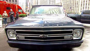 A look at Chevy trucks on the 'Fox & Friends' plaza.