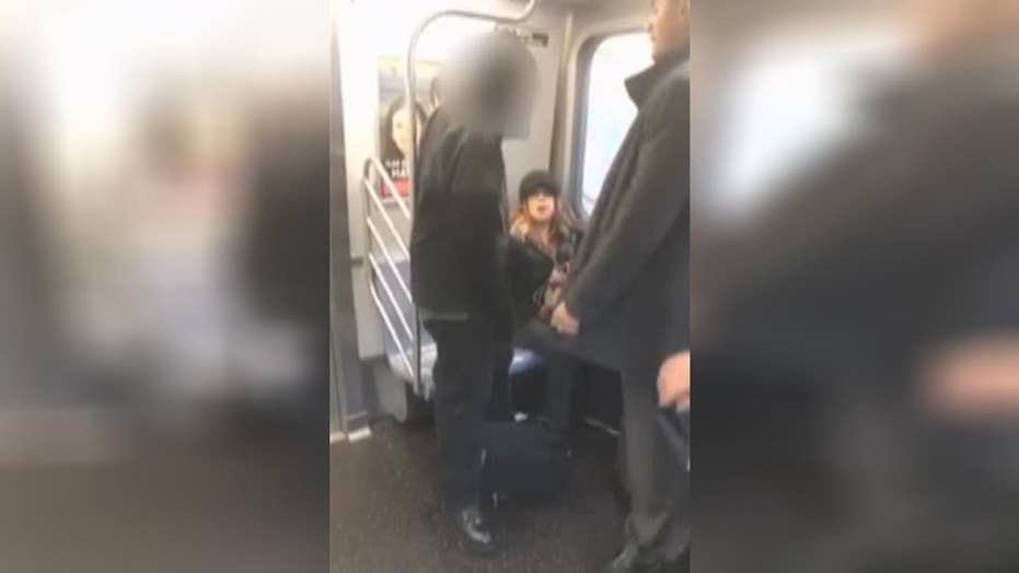 Bystander comes to defense of woman assaulted on NYC subway