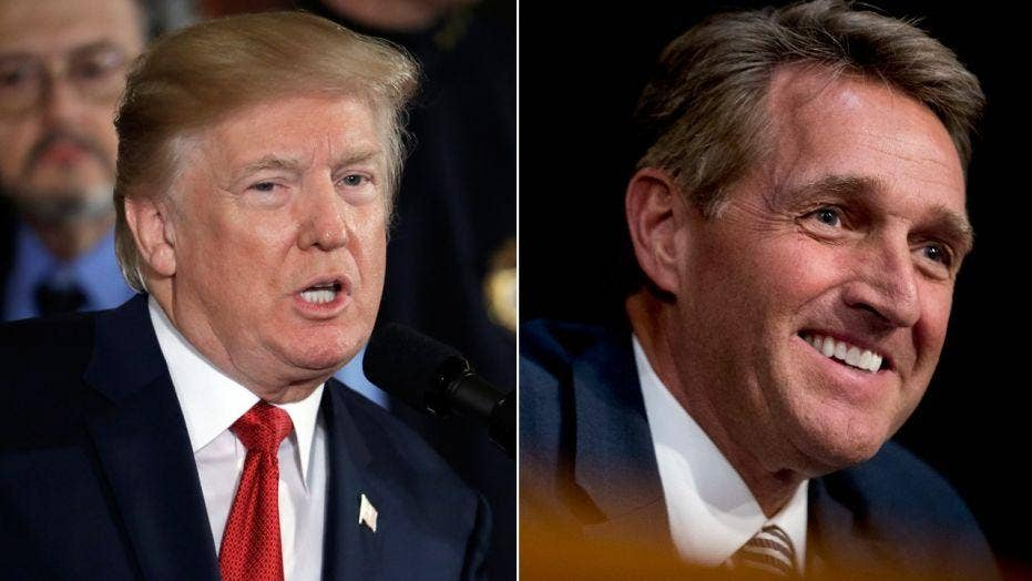 Trump reignites feud with Flake, predicts he'll vote no on tax cuts