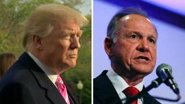 President Trump minimized allegations of sexual misconduct against Republican Alabama Senate candidate Roy Moore Tuesday, telling voters not to support Moore's Democratic opponent.