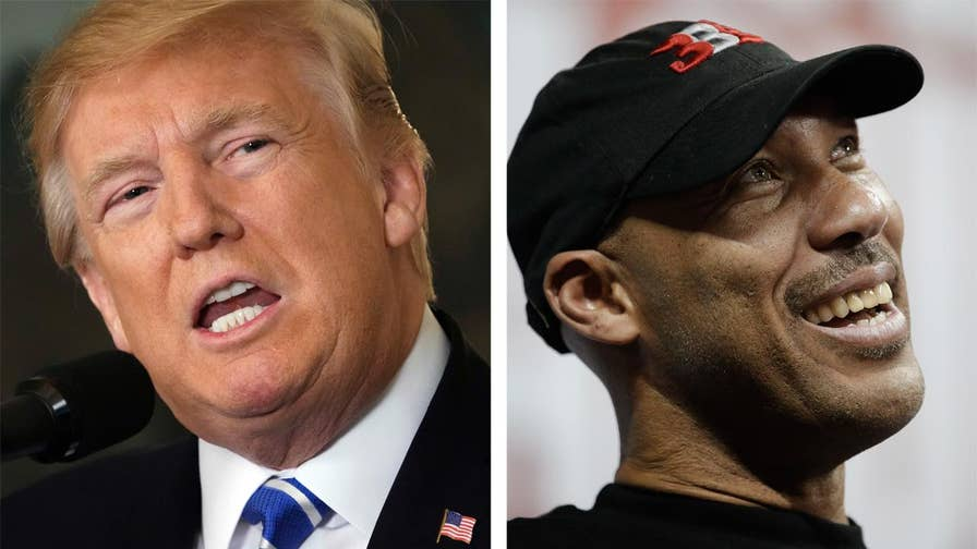 War of words between Trump and father of UCLA basketball player heats up; Burgess Owens gives his take on 'The Story.'
