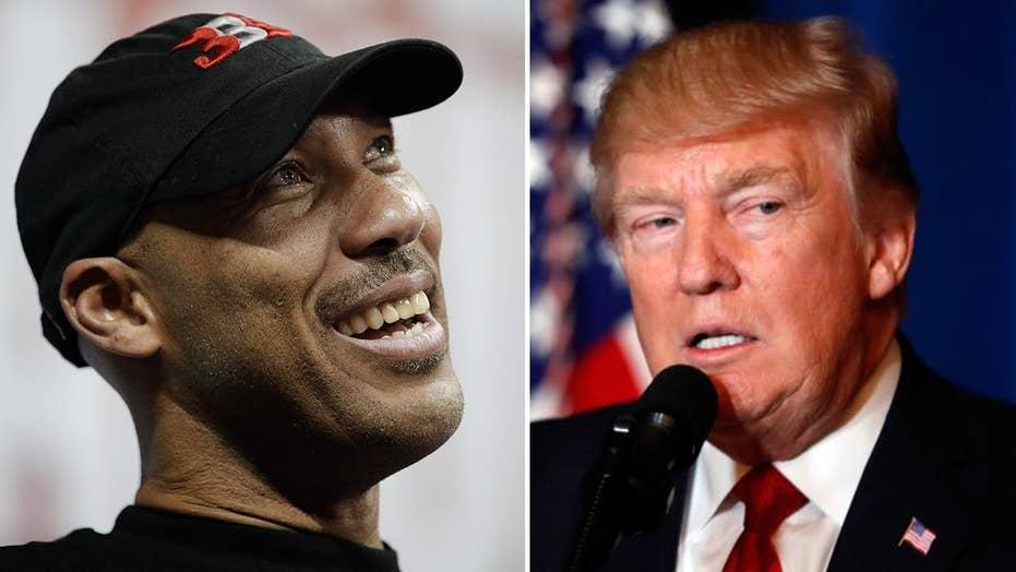 Trump escalates China feud with 'ungrateful fool' LaVar Ball