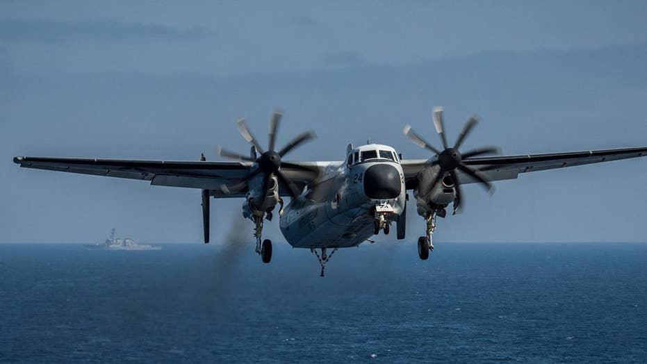 8 people rescued, 3 missing after Navy plane crash