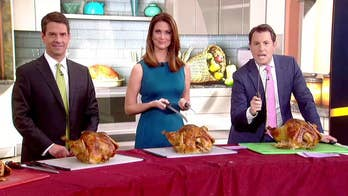 'Fox & Friends' anchors are challenged to a carve-off.