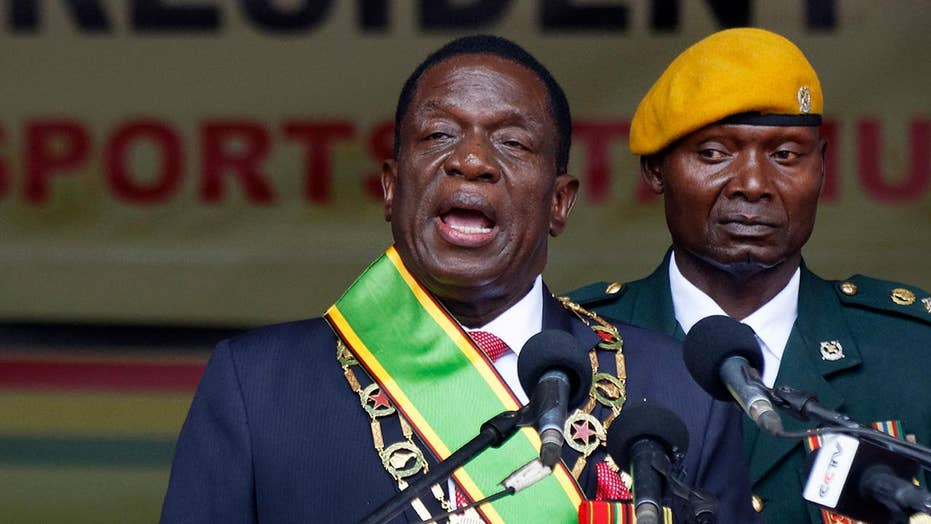 Zimbabwe's new leader is sworn in