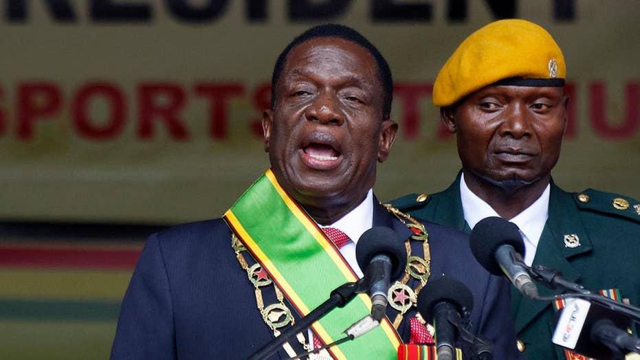 Zimbabwe's new leader is sworn in