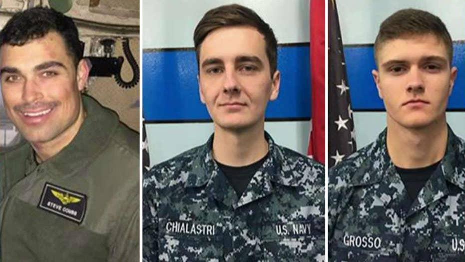 Navy identifies pilot and sailors lost at sea