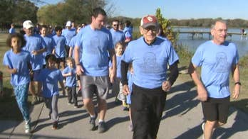 Four generations run a combined total of 100 miles in celebration.