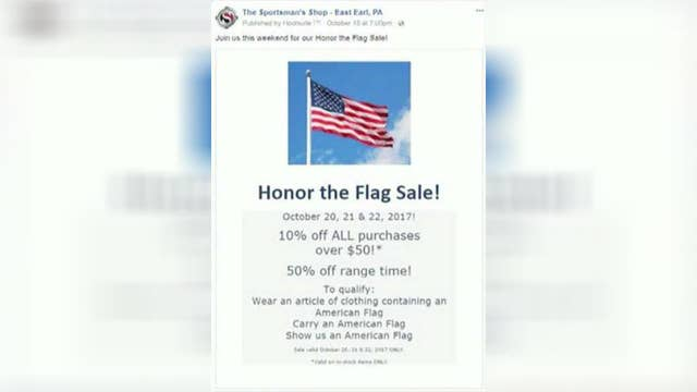 Small business' ads silenced because shop sells guns