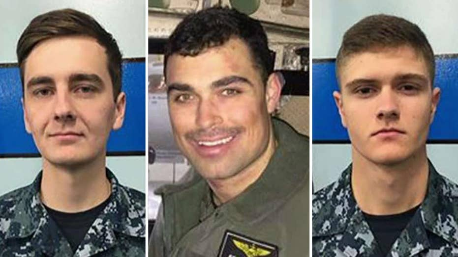 Navy identifies officer and sailors lost after plane crash