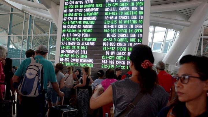 Tourists stranded in Bali volcano zone