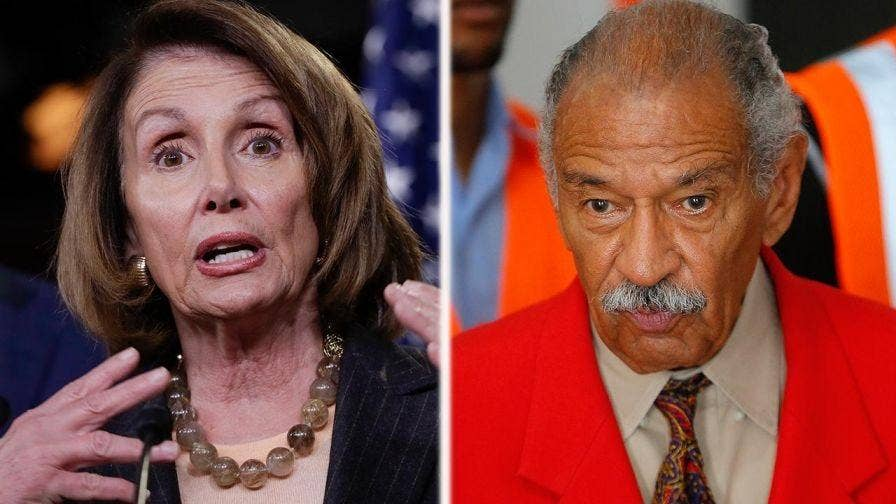 House Minority Leader Nancy Pelosi (D-Calif.) declined to call for the resignation of Rep. John Conyers (D-Mich.) over sexual harassment allegations. Plus, her latest comments during an interview on NBC's 'Meet the Press' has raised questions on whether Pelosi is putting politics ahead of protecting women.