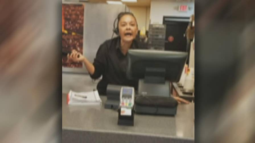 Raw video: Burger King employee working in Ohio caught on camera swearing at customer.