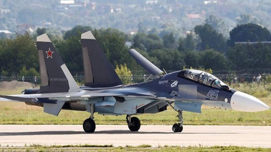 Russian jet buzzes US Navy spy plane over Black Sea