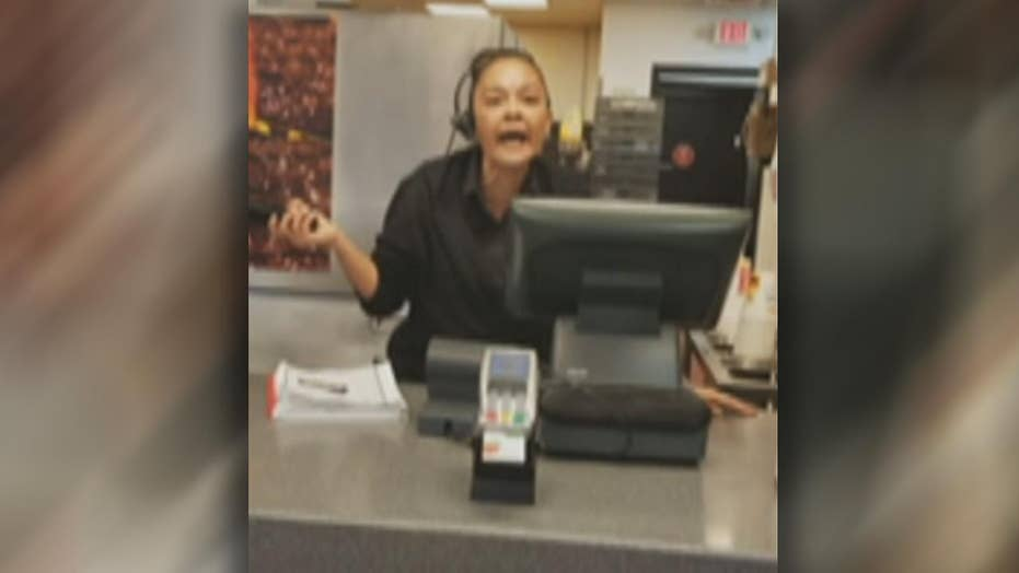 Burger King worker's expletive-filled rant caught on camera