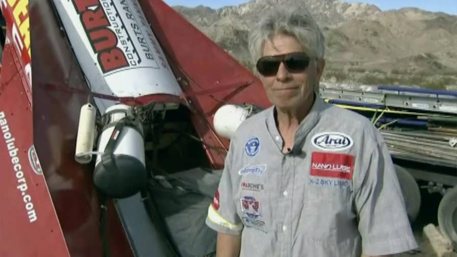 Former limo driver 'Mad' Mike Hughes intends to launch himself aboard his home-built rocket to prove scientists are faking the shape of the Earth.