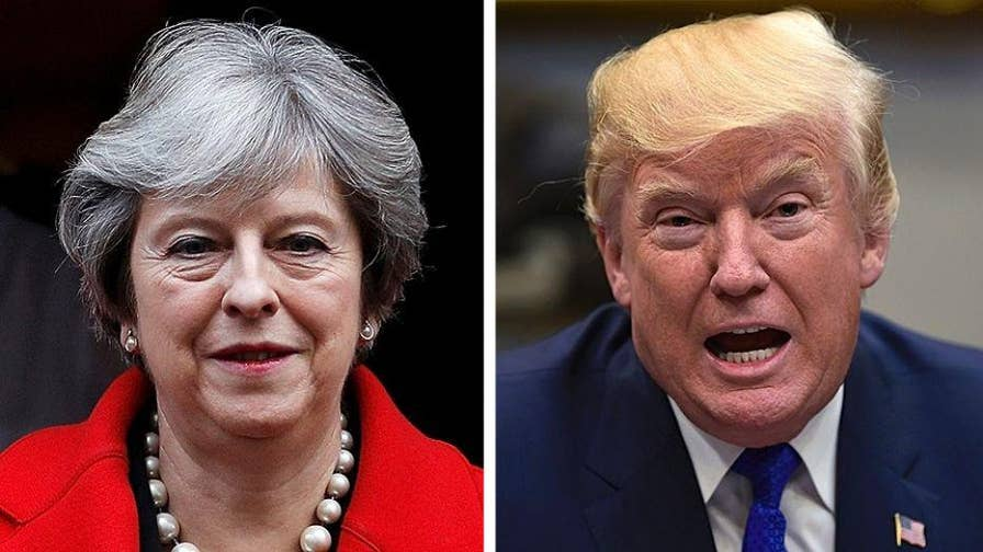 Theresa May's office criticized President Trump for sharing inflammatory videos from fringe British political group; chief White House correspondent John Roberts reports.