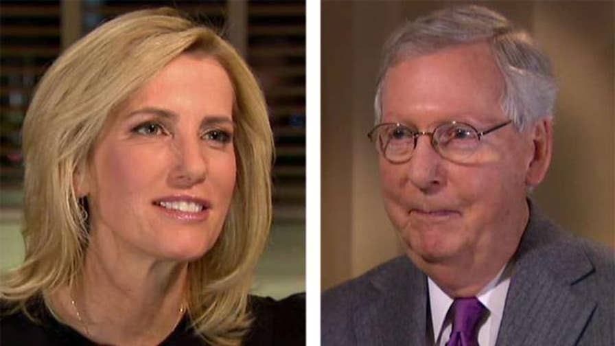 Senate majority leader provides insight about the tax bill and the controversial Alabama Senate race on 'The Ingraham Angle.'